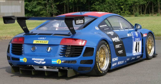 Rear diffuser on Audi R8 ready for DTM racing