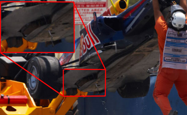 Red Bull Racing double diffuser inlets for 2010