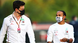 """Toto Wolff """"very much hopes"""" Lewis Hamilton continues with Mercedes in 2022 – and wants the job to be achieved by summer"""