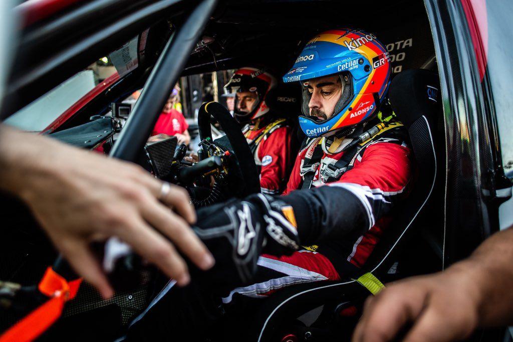 Primer podio de Fernando Alonso en los raids