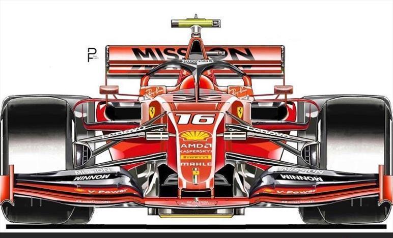 Imagen del posible diseño del monoplaza de Ferrari para 2020