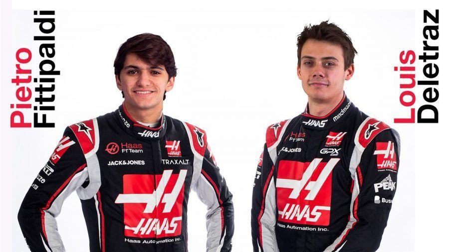 Louis Delétraz y Pietro Fittipaldi pilotos probadores de Haas en 2020