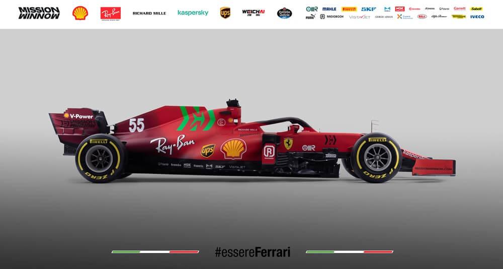 La Scuderia Ferrari presenta su monoplaza para la temporada 2021 de F1: el SF21