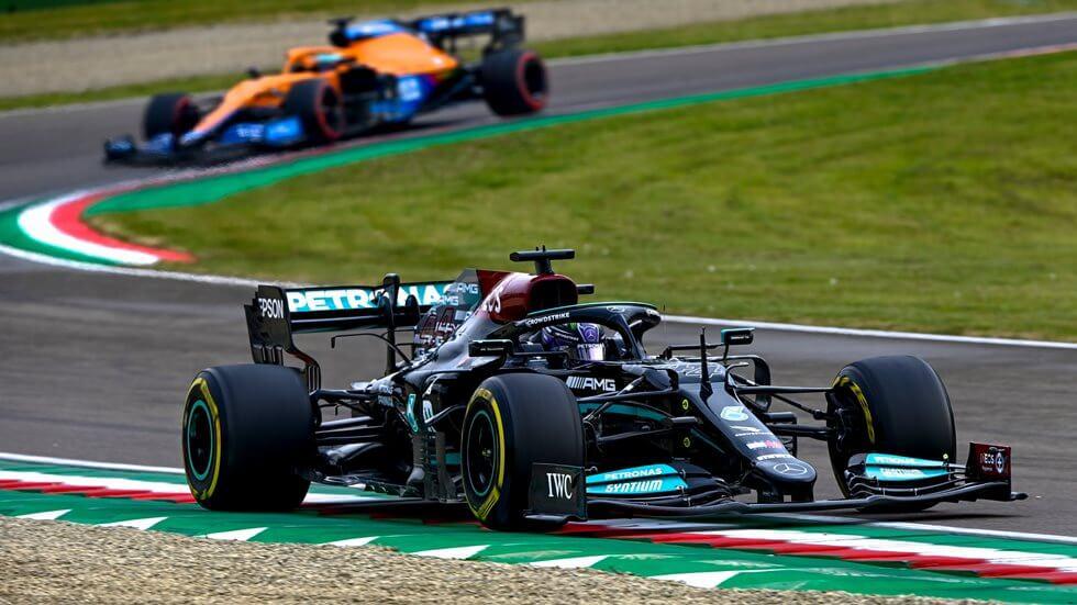 """Lewis Hamilton sobre su 2° puesto en Imola: """"No ha sido el mejor de los días"""""""