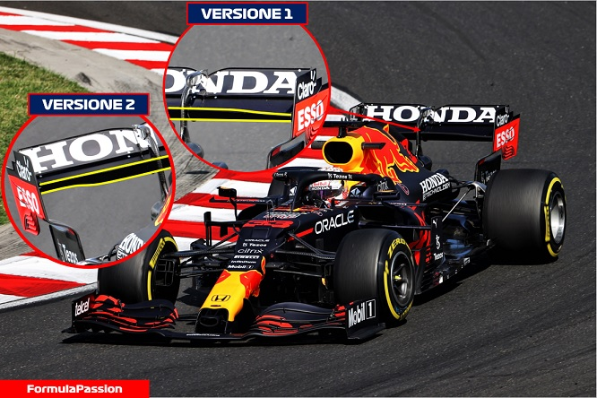 Red Bull RB16B Budapest Ungheria ala posteriore