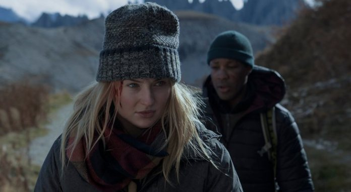 Sophie Turner and Corey Hawkins in 'Survive'