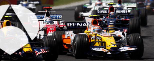 Logo de Antena 3 sobre una imagen de Fórmula 1
