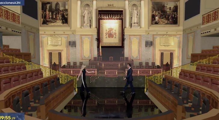 Antena 3 recreó el Congreso de los Diputados