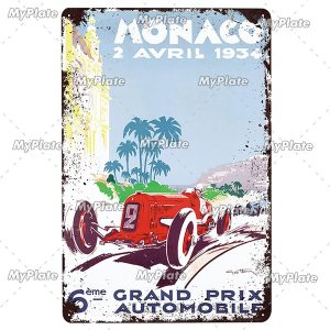 LE MANS Metal Sign 20 x 30 cm