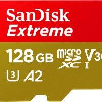 SanDisk SDSQXA1 Extreme Micro SDXC UHS-I Class 10 Geheugen Kaart Met Adapter, 128GB