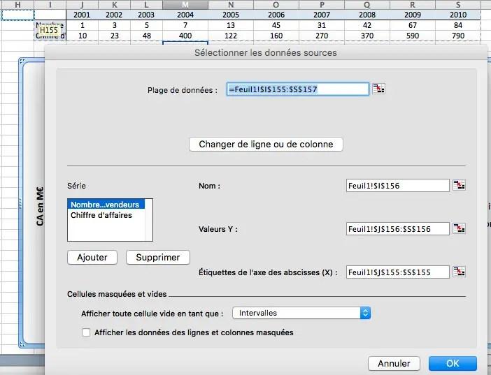 Comment changer les données sources d'un graphique powerpoint dans un fichier Excel