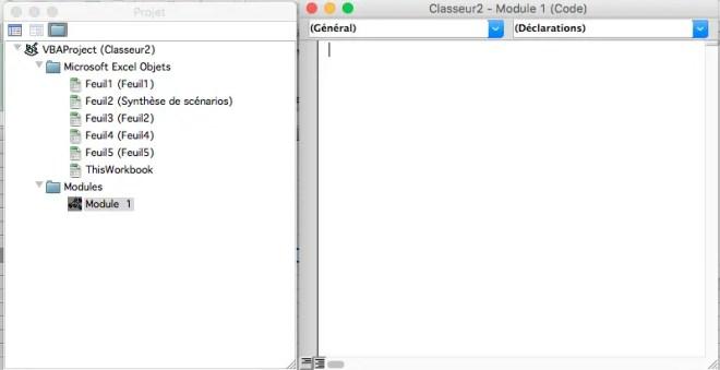 comment éiter une macros dans l'éditeur VBA