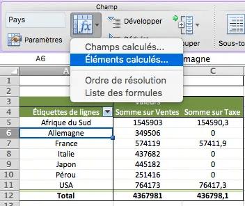 Inserer Un Champ Calcule Dans Un Tableau Croise Dynamique Formule Excel