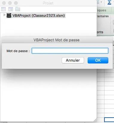mot de passe en VBA