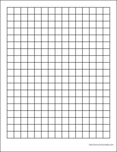 1 Inch Grid Paper Printable A3