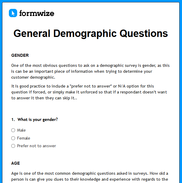 Personal Security Questionnaire