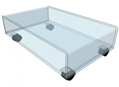 table tv sur roulettes meuble tv