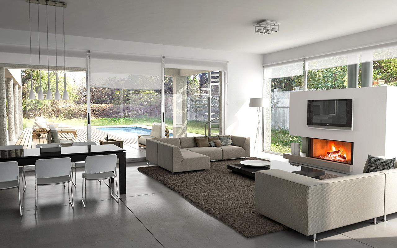 Casa en el campo y algunos renders interiores on Interiores De Casas Modernas  id=23323