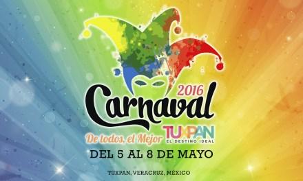 Carnaval de Tuxpan, Veracruz del 5 al 8 de Mayo – 2016