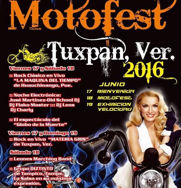 Todo listo para el Motofest Tuxpan 2016
