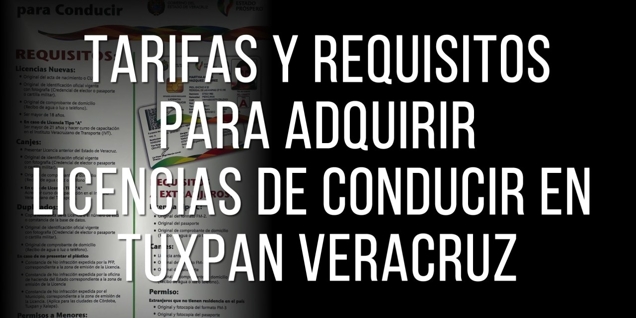 Tarifas Y Requisitos Para Adquirir Licencias De Conducir En