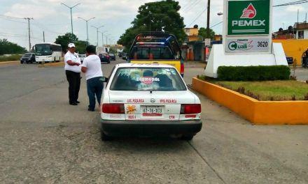 Despliegan Operativo Cero Tolerancia a taxista que realizan servicio colectivo