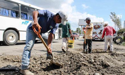 Ayuntamiento de Tuxpan Mejora Vialidades en la Ciudad
