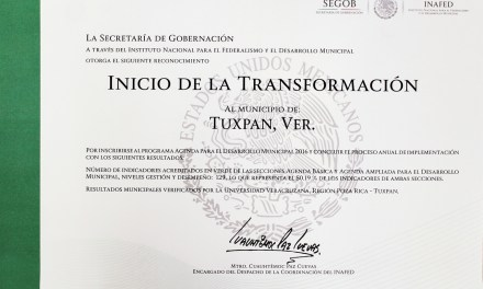 Gobierno de Tuxpan con Buenos Resultados en Evaluación Nacional