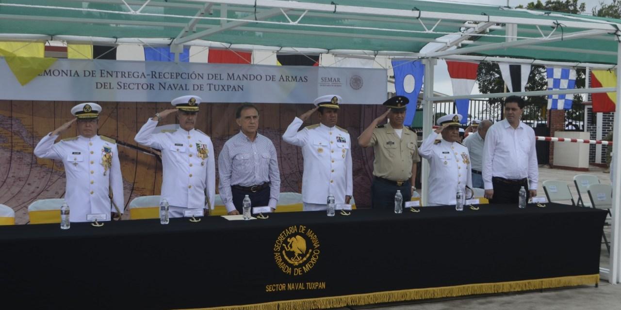 Toma posesión nuevo Comandante del Sector Naval de Tuxpan