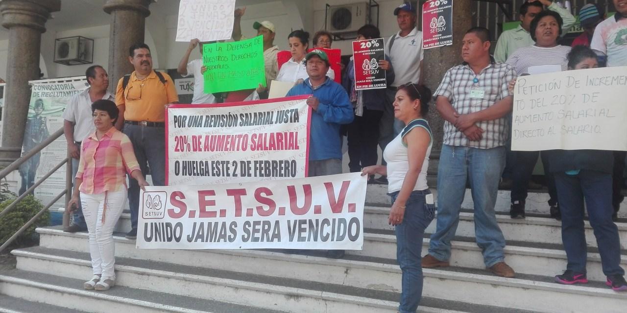 Integrantes del SETSUV solicitan incremento salarial del 20%