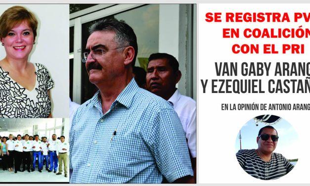 SE REGISTRA PARTIDO VERDE ECOLOGISTA EN COALICIÓN CON EL PRI.