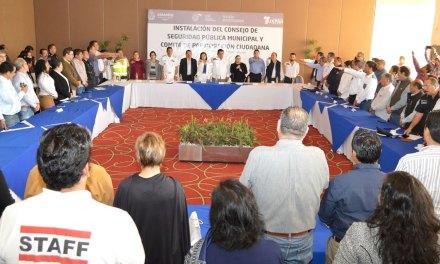 Instalan Consejos de Seguridad Pública Municipal y Comités de Participación Ciudadana