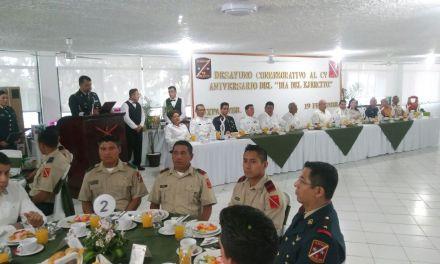 Conmemoran 105 aniversario del Día del Ejército