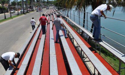 PC Tuxpan supervisará instalación de gradas para Carnaval