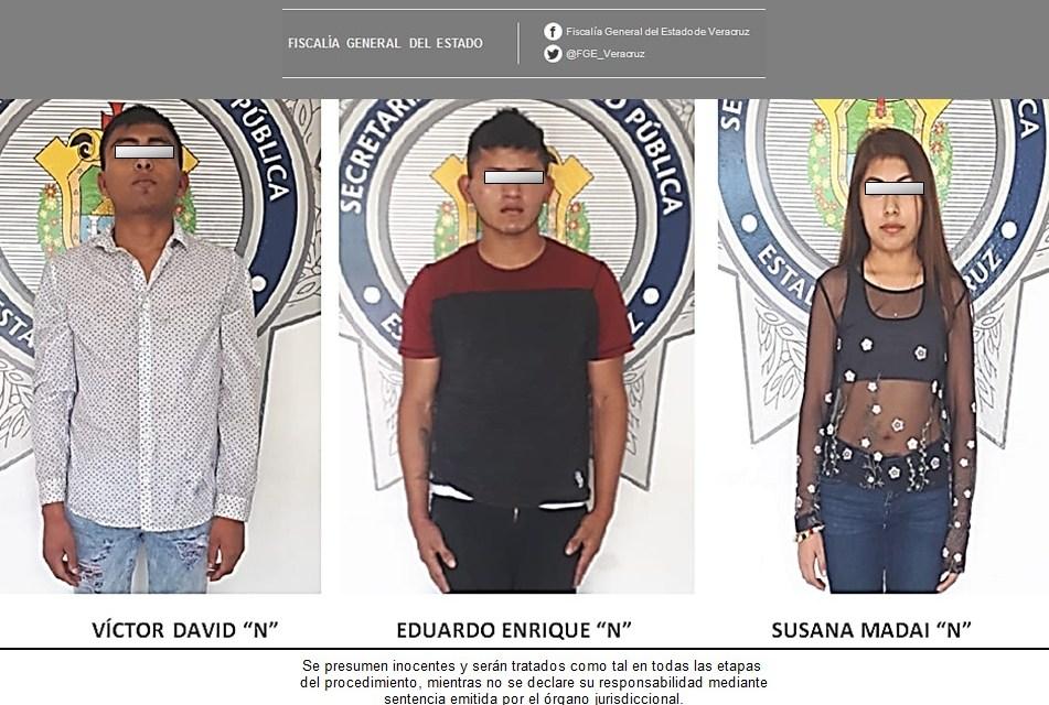Por narcomenudeo, detienen, imputan y vinculan a proceso a tres sujetos,  en Tuxpan
