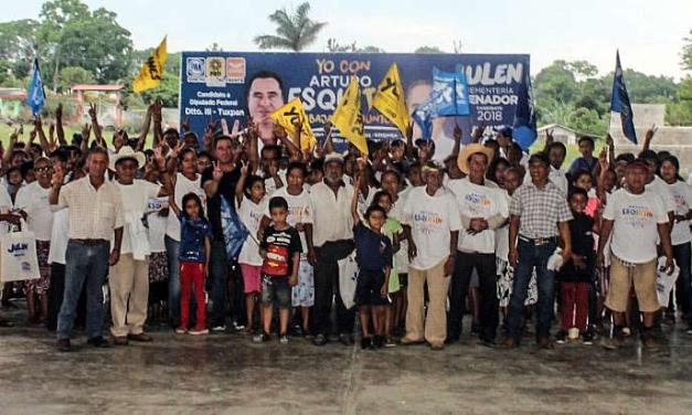 En Tuxpan el cambio ya se siente: Arturo Esquitín