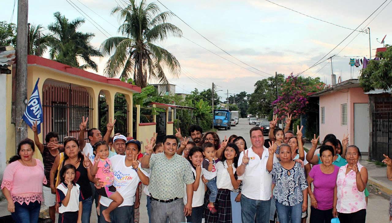 Mi compromiso es con ustedes, juntos continuaremos el cambio que sí da resultados: Arturo Esquitín