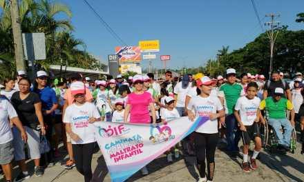 Se realizó caminata «No al maltrato infantil» con gran éxito
