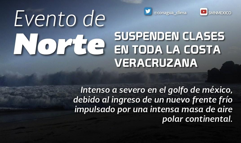 Este martes 13, se suspenden clases en 31 municipios, por ingreso del Frente Frío 10