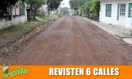 Revestimiento de seis calles en colonia Nuevo Amanecer
