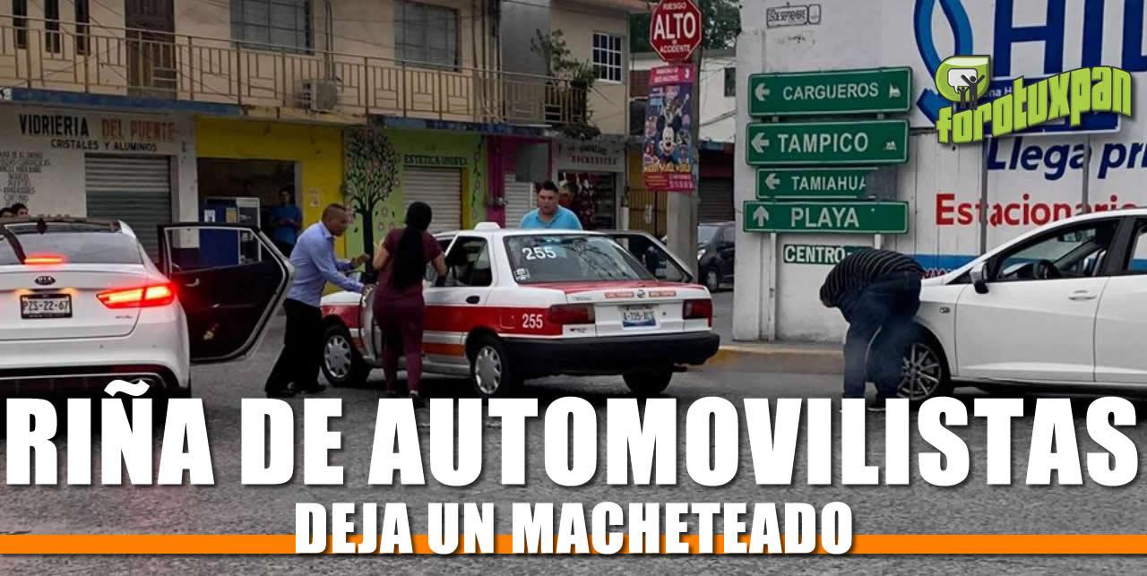 Riña de Automovilistas deja un Macheteado