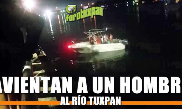 Avientan a un hombre al Río Tuxpan