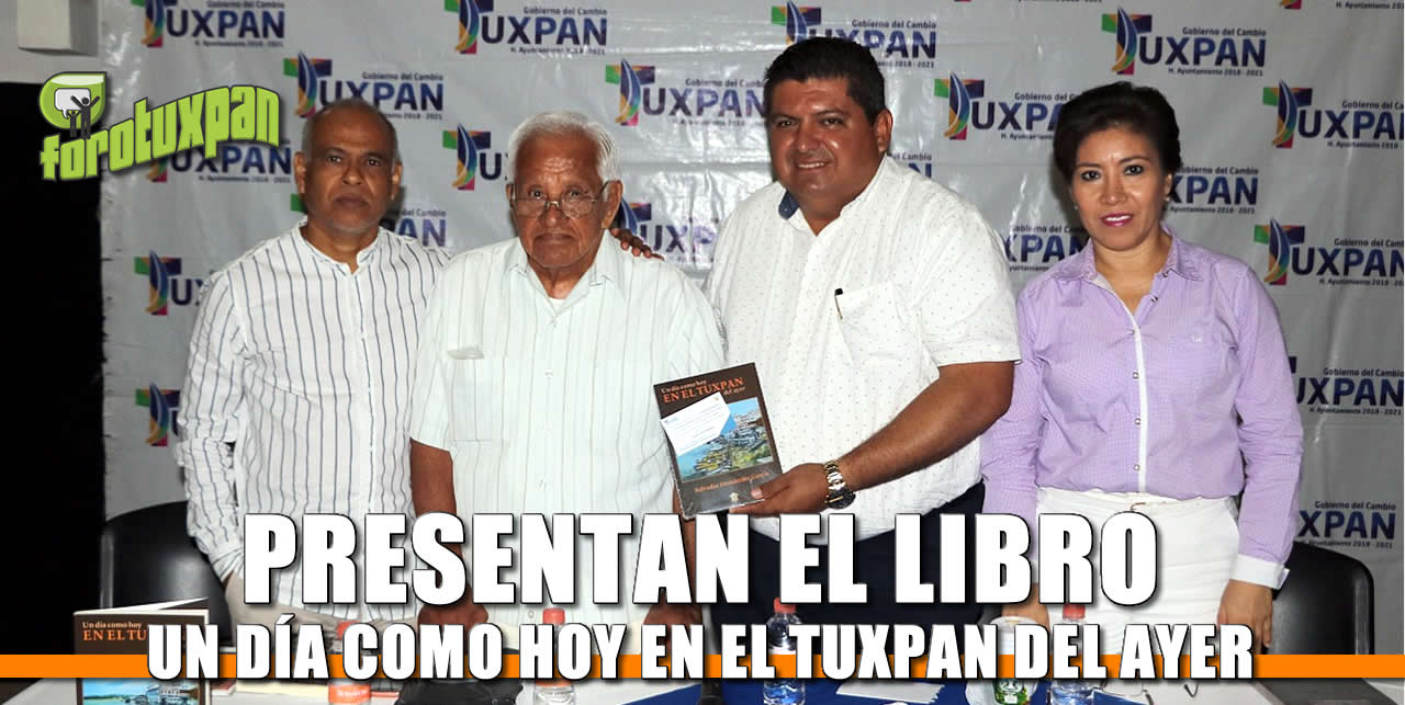 """Presentación de libro """"Un día como hoy EN EL TUXPAN del ayer"""" ante medios de comunicación"""