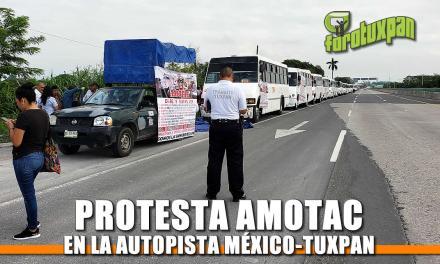 Protesta AMOTAC en la autopista