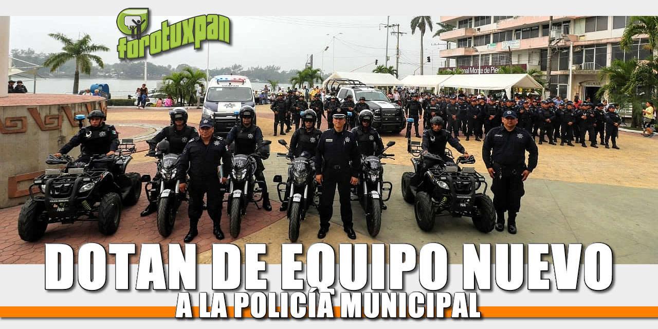 Dotan de Equipo Nuevo a la Policía Municipal