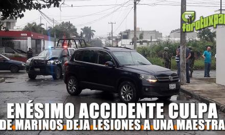 ENÉSIMO ACCIDENTE CULPA DE MARINOS DEJA LESIONES A UNA MAESTRA