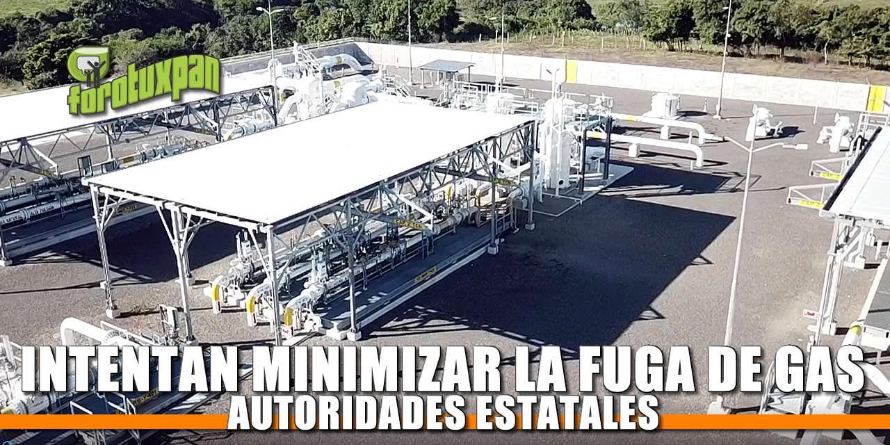Autoridades Estatales intentan minimizar fuga de gas