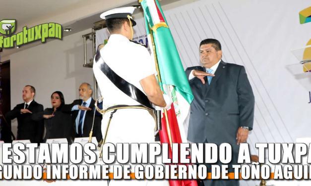 ¡Le estamos cumpliendo a Tuxpan!: Toño Aguilar
