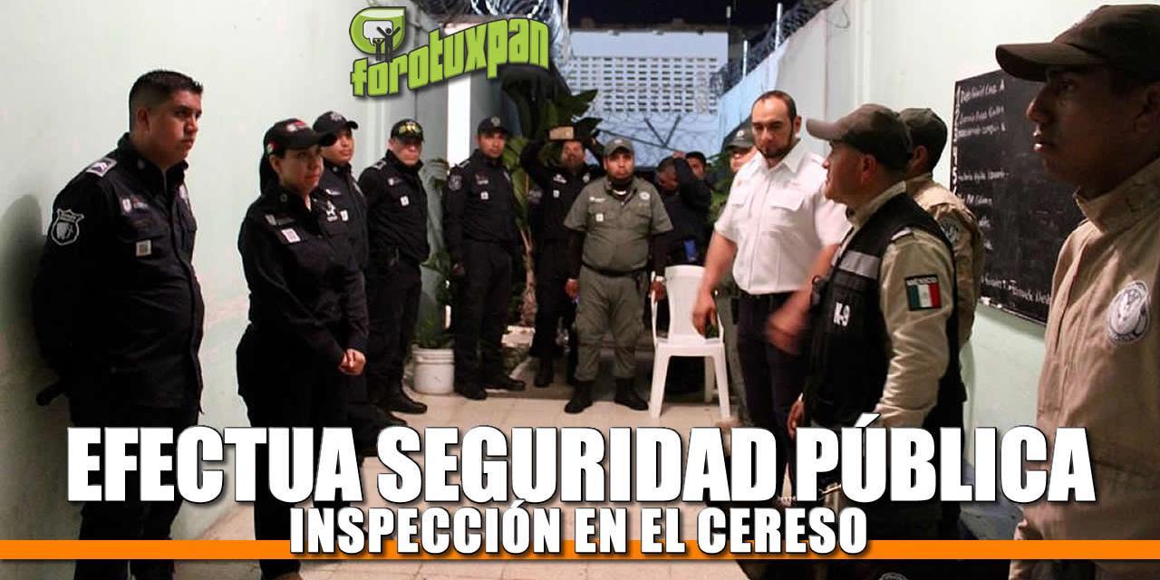 Efectúa Seguridad Pública inspección en CERESO de Tuxpan