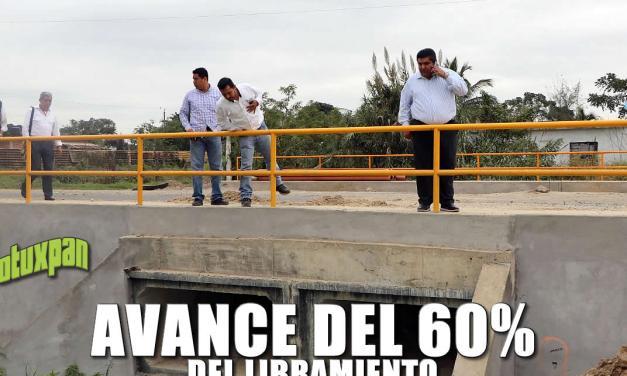AVANCE DEL 60 POR CIENTO DEL LIBRAMIENTO